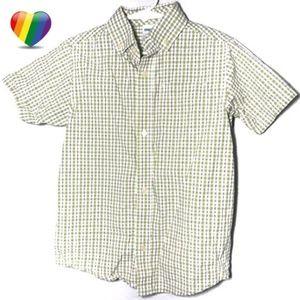 Gymboree Green Checkered Button Shirt A020053